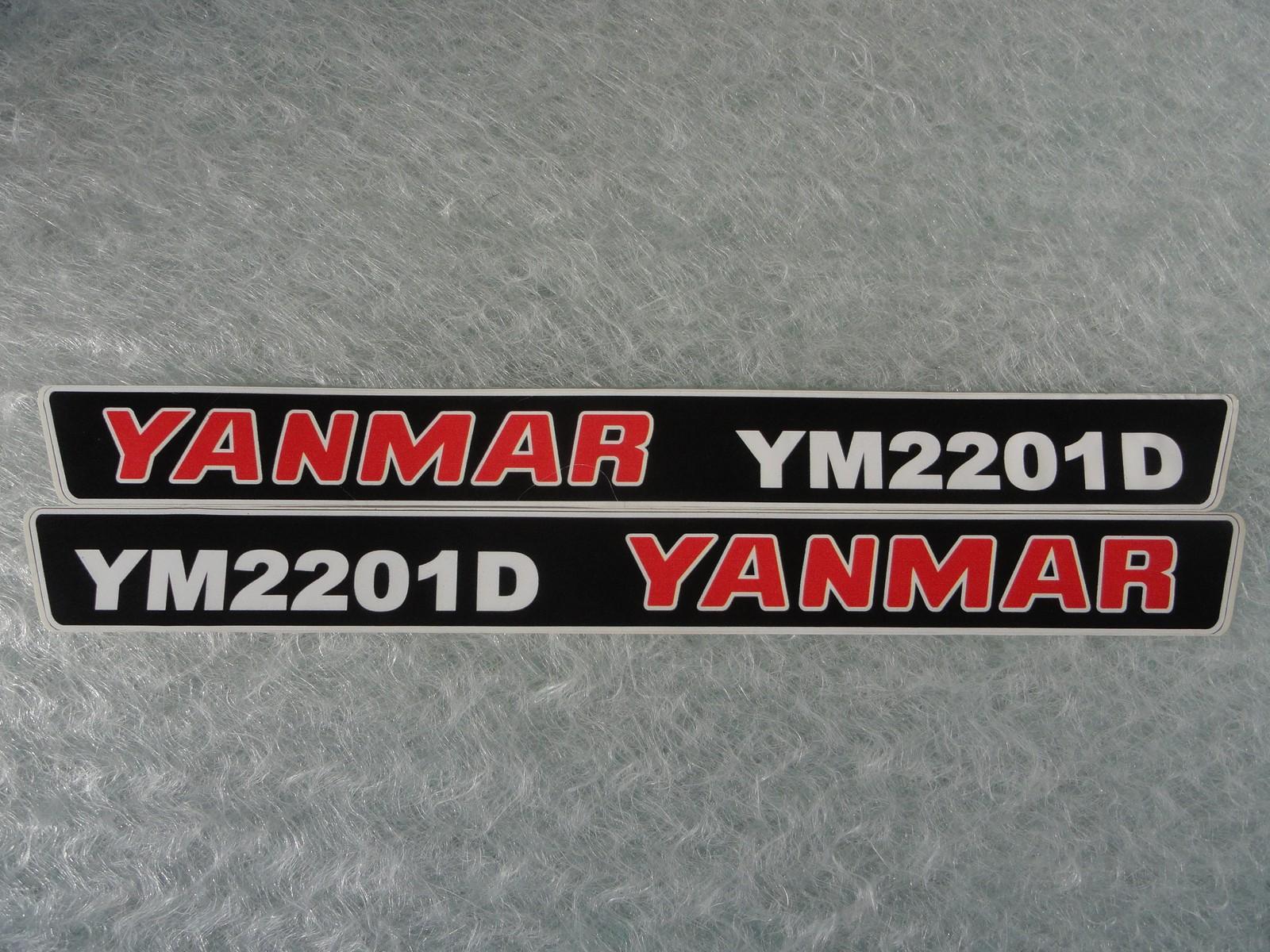 Naklejka na mini traktorek YANMAR YM2201D