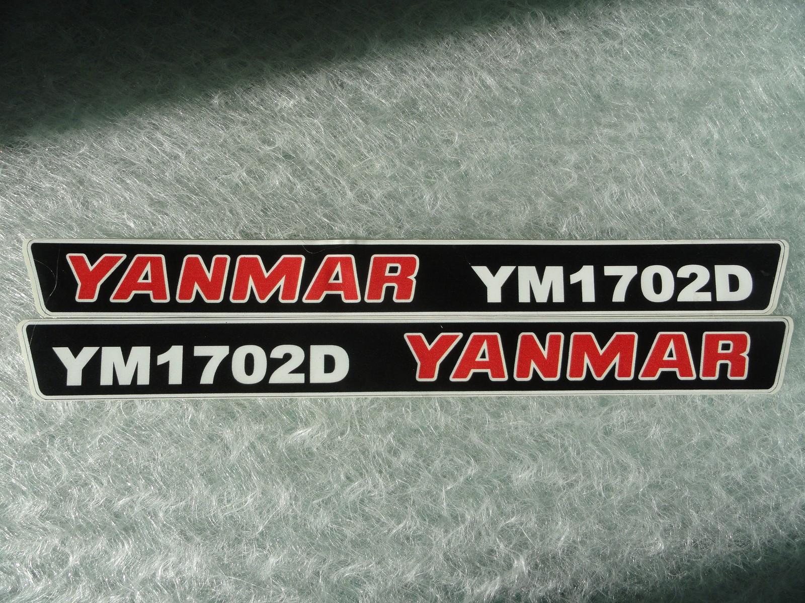Naklejka na mini traktorek YANMAR YM1702D