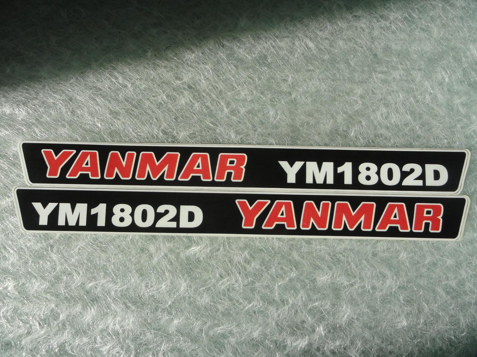 Naklejka na mini traktorek YANMAR YM1802D