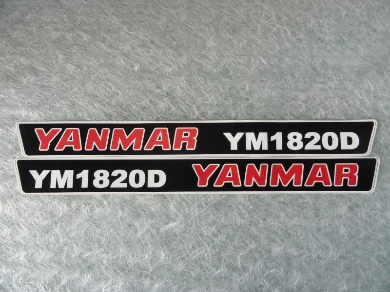 Naklejka na mini traktorek YANMAR YM1820D