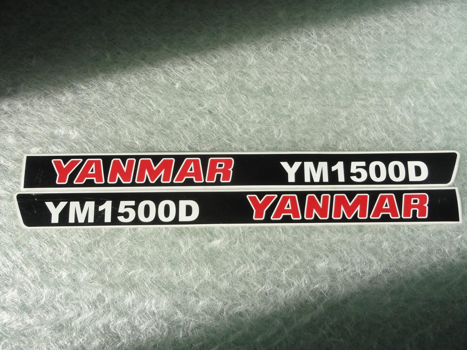 Naklejka na mini traktorek YANMAR YM1500D